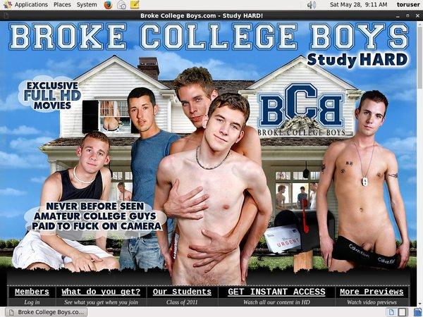 Broke College Boys Sign In