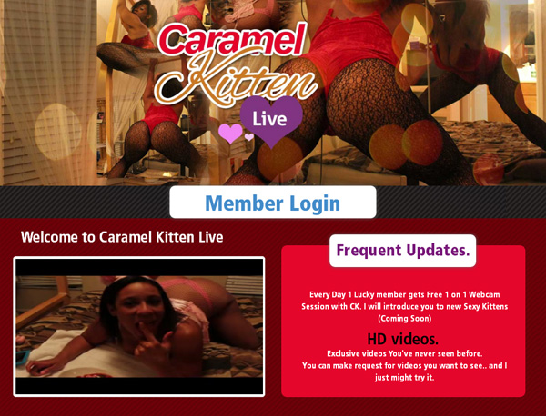 New Caramel Kitten Live Site Rip