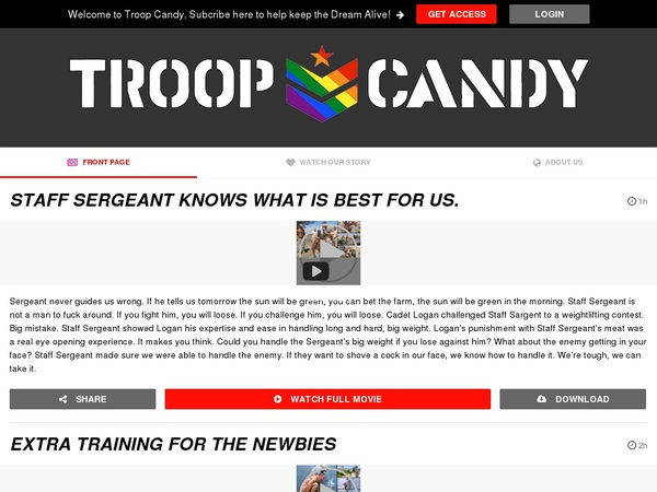 Troop Candy Pictures