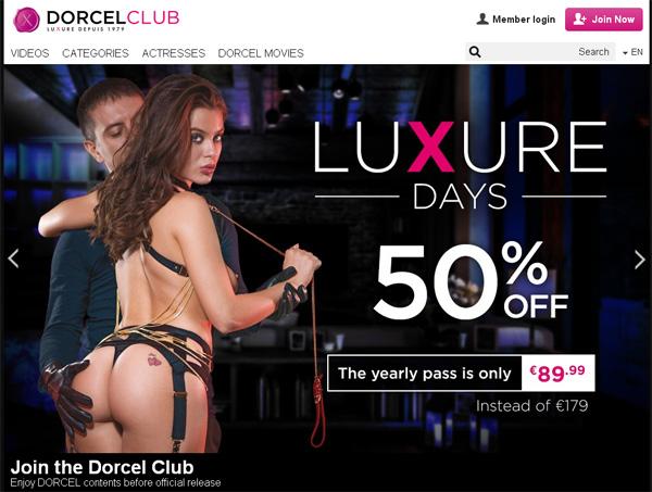 Dorcel Club Get An Account