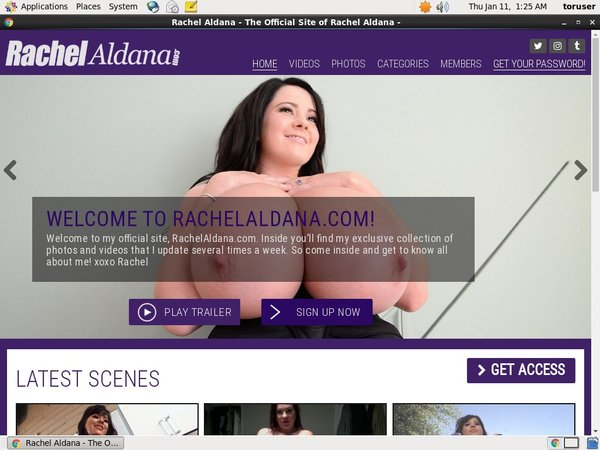 Rachelaldana.com Subscription