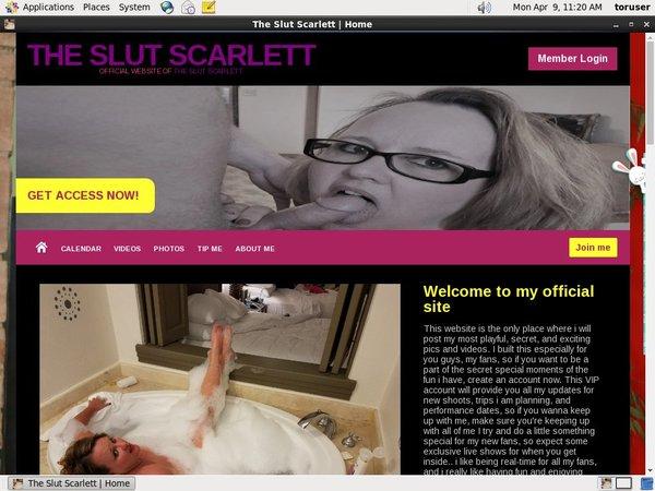 The Slut Scarlett Free Accounts