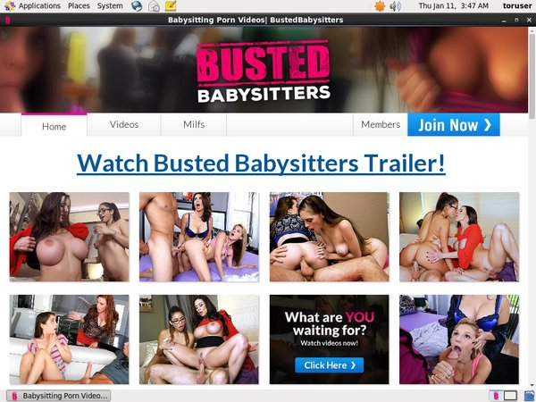 Bustedbabysitters.com Account Info
