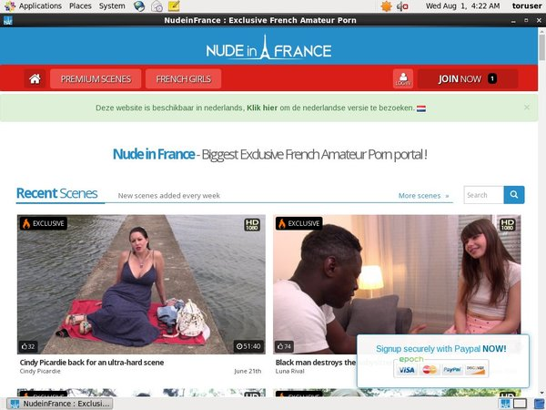 Nudeinfrance.com Page