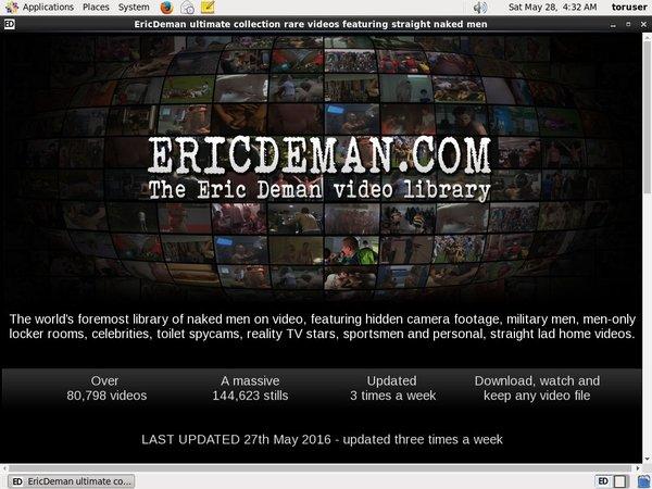 Discount Code Eric Deman