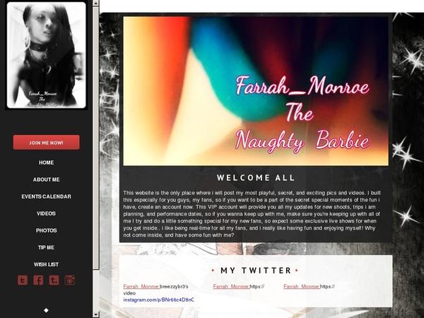 Free Farrah Monroe Membership