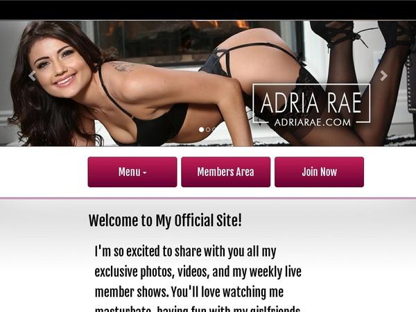 Adria Rae Reduced Rate