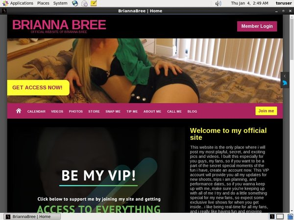Briannabree.modelcentro.com Trial Login