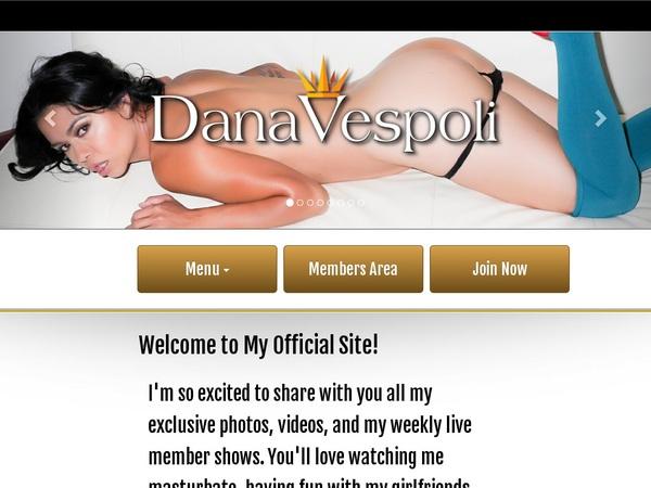 Create Dana Vespoli Account
