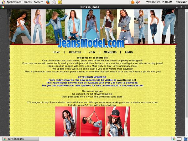 Jeans Model Promo Trial