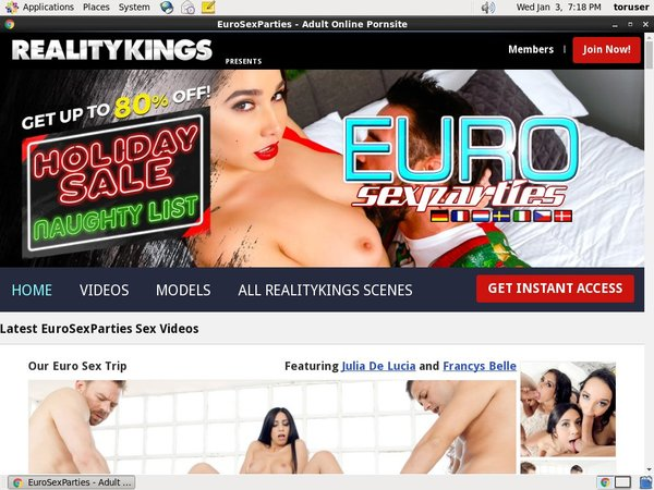 Euro Sex Parties With ECheck