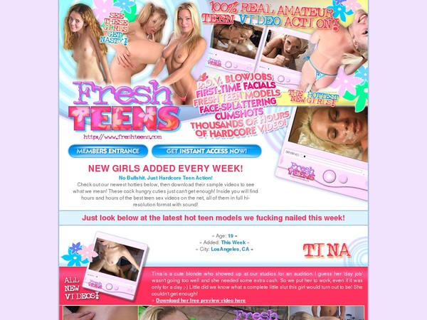 Fresh Teens Signup Discount