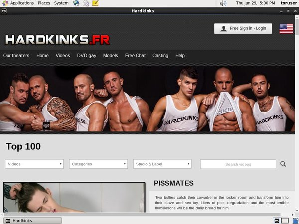 Hard Kinks FR Signup Form