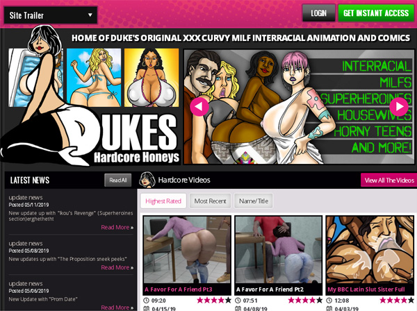 Dukeshardcorehoneys.com Free Trial Member