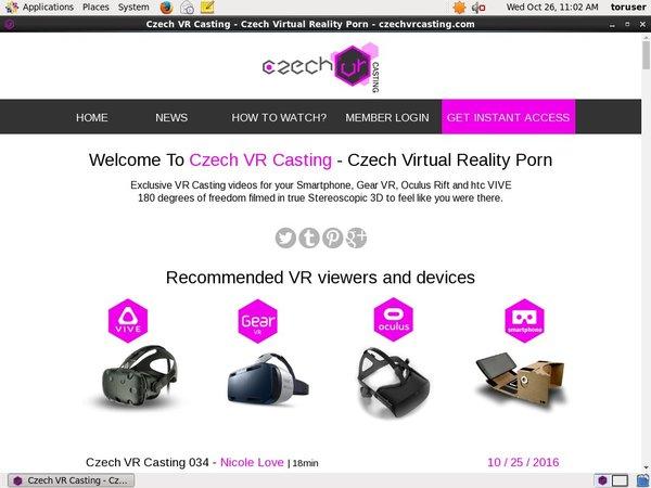 Czech VR Casting Using Discount