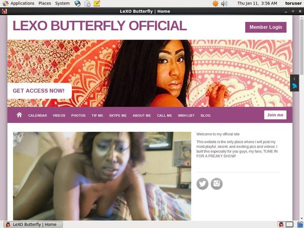 LeXOButterfly Pay Pal Account