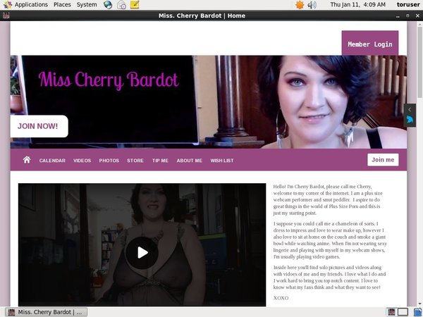 Try Free Miss. Cherry Bardot